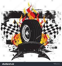 Images Of Racing Flags Racing Insignia Race Car Tire Front Stock Vector 248189992