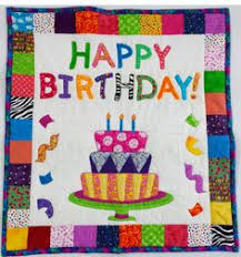 Happy Birthday Wishes For Wall Happy Birthday Quilt Quilted Happy Birthday Wall Hanging Or Baby