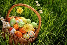 bunny basket eggs happy easter 2013 eggs bunnies basket pictures images backgrounds