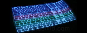 light up wireless keyboard flexible silicone illuminated keyboard the green head