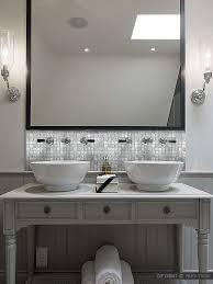 Installing Glass Tile Backsplash In Bathroom Ocean Mini Glass - Bathroom vanity backsplash ideas