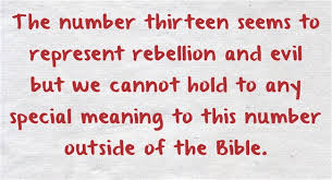 what does the number thirteen 13 or represent in the bible