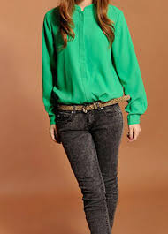 green womens blouse s stand up collar sleeve single breasted green cotton
