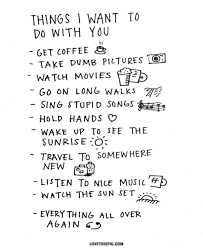 things i want to do with you quote happy relationship list