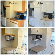 Painted Kitchen Cabinets Before And After Pictures Tips For Updating 80 U0027s Kitchen Cabinets The Handyman U0027s Daughter