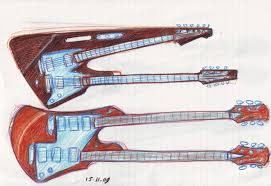 guitarren more double neck and neckless guitar sketches strings