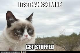 Thanksgiving Cat Meme - a turkey day message from grumpy cat grumpy cat grumpy cat meme