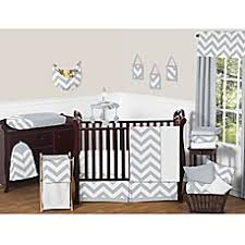 Grey Crib Bedding Sets Sweet Jojo Designs Chevron Crib Bedding Collection In Grey White