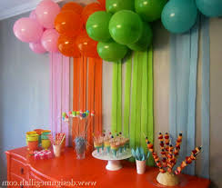 1st Birthday Party Decorations Homemade Simple Decoration Ideas For Birthday Party At Home Image