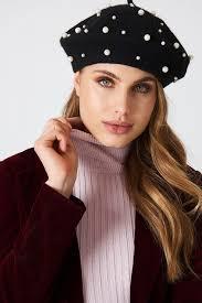 barret hat faux pearl beret hat na kd