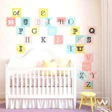 Letter Wall Decals For Nursery Baby Nursery Letters Wall Pics Photos Creative Baby Room Wall