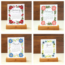 Interior Design Classes Nyc 20 Creative Calendar Designs View In Gallery Desk From Etsy Shop