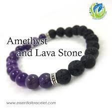 bracelet stone images Amethyst lava stone beaded bracelet essential bracelet jpg