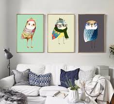 Nordic Home Online Get Cheap Owl Abstract Painting Aliexpress Com Alibaba Group