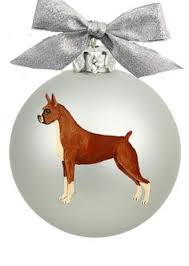 boxer ornament dogs
