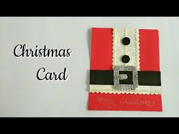 diy santa card christmas greeting card handmade christmas cards