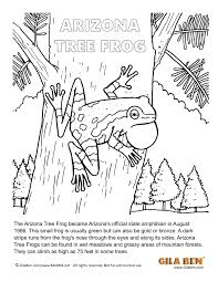 arizona state amphibian arizona tree frog coloring page
