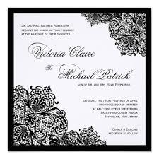 wedding invitations black and white black lace white linen square wedding invitations weddings