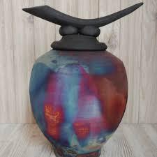 pet urn one of a raku pet urn
