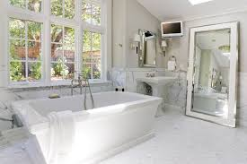 mirror ideas for bathrooms staggering length mirrors free standing decorating ideas