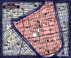 Brooklyn Ny Map Neighborhood Borders Map For Brownsville Brownsville Old Brooklyn