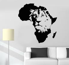 vinyl wall decal lion king of the jungle africa african animal