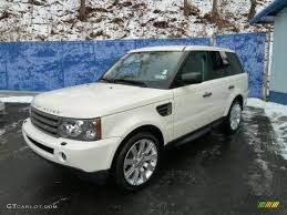 land rover 2009 alaska white 2009 land rover range rover sport hse exterior photo