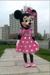 Pink Minnie Mouse Halloween Costume Discount Minnie Mouse Mascot Costume Pink Dress 2017 Minnie