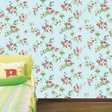 antique rose sky blue flower pattern self adhesive wallpapers