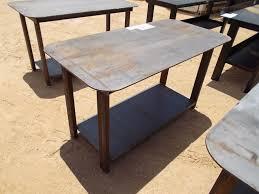 heavy duty 30x57 welding shop table with self