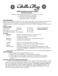 cabrillo college emt training program syllabus