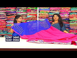 pink combination blue and pink combination fancy saree new arrivals vanitha