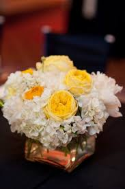 White Roses Centerpiece by Exactly How I Picture My Centerpieces White Hydrangea Yellow