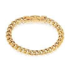 mens gold bracelet links images Gold plated cuban link bracelet for men gold bracelets for men jpg