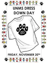 unms dress down day friday november 20 2015 u2022 u2022 unms