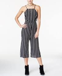 gaucho jumpsuit material juniors striped gaucho jumpsuit created for macy s