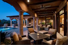 Mediterranean Patio Design High End Patio Furniture Patio Mediterranean With Arches Beams