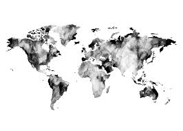 Black And White World Map 37 Best Watercolor Acuarelas Images On Pinterest Watercolor