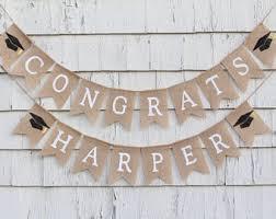 congratulations graduation banner graduation banner etsy