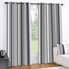 Black And Grey Curtains Striped Eyelet Lined Curtains Black Grey Tony S Textiles Tonys