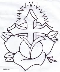 wooden cross banner tattoo design real photo pictures images
