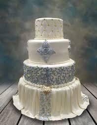 elegantly draped wedding cake cakecentral com