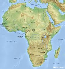 Blank African Map by Free Physical Maps Of Africa U2013 Mapswire Com