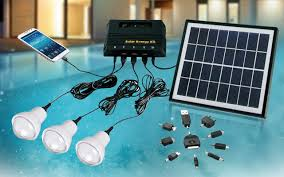 solar dc lighting system 25 off 4w solar dc 3 bulb lighting kit with mobile phone charger