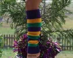 mardi gras leg warmers 15 inch leg warmers etsy