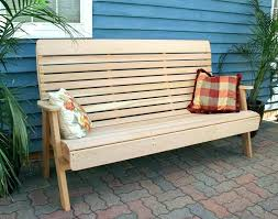 large outdoor bench cedar storage with cushion top on benches and