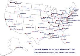 lubbock on map united states tax court places of trial