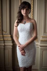 fitted style short wedding dress m30 by apilatcreativeatelie