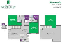 Emerald Homes Floor Plans Cottages At Emerald Cove Apartment Homes At 100 Shellbark Way