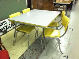 Retro Kitchen Table Sets by Yellow Retro Kitchen Table Chairs Interior U0026 Exterior Doors